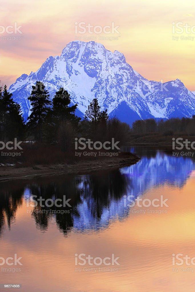 Mount Moran Sunset royalty-free stock photo