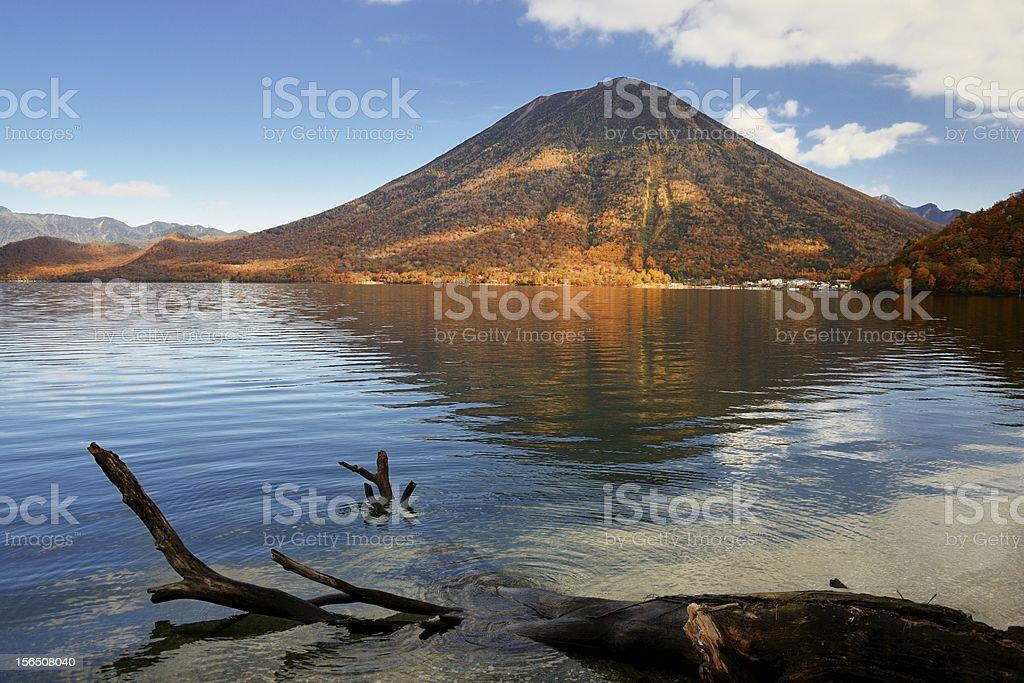 Mount Nantai stock photo