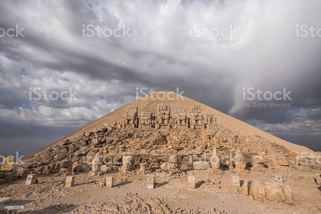 Mount Nemrut at sunrise stock photo