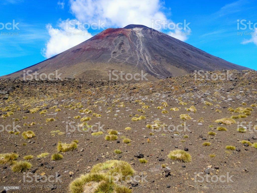 Mount Ngauruhoe in Tongariro National Park New Zealand stock photo