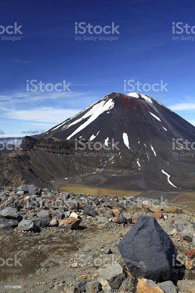Mount Ngauruhoe royalty-free stock photo