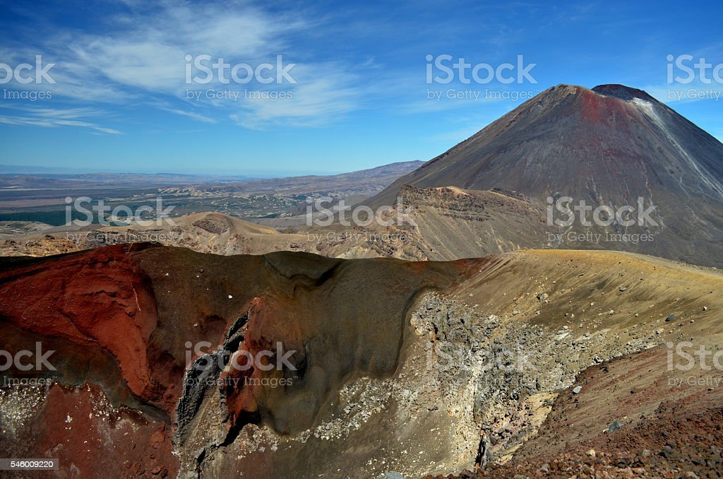 Mount Ngauruhoe stock photo