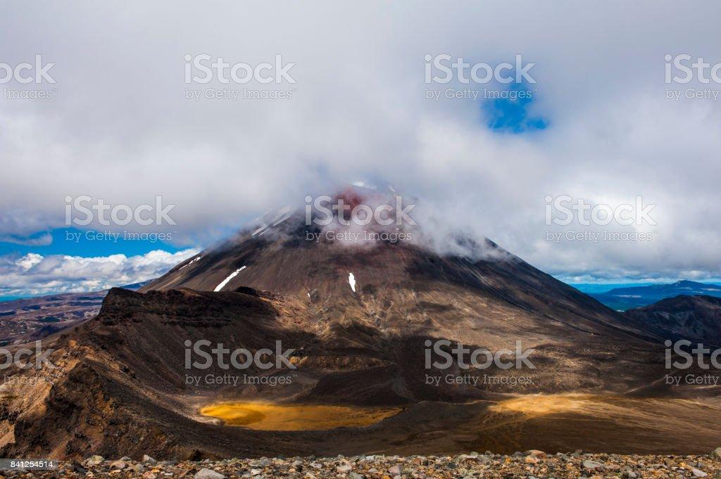 Mount Ngauruhoe stock photo