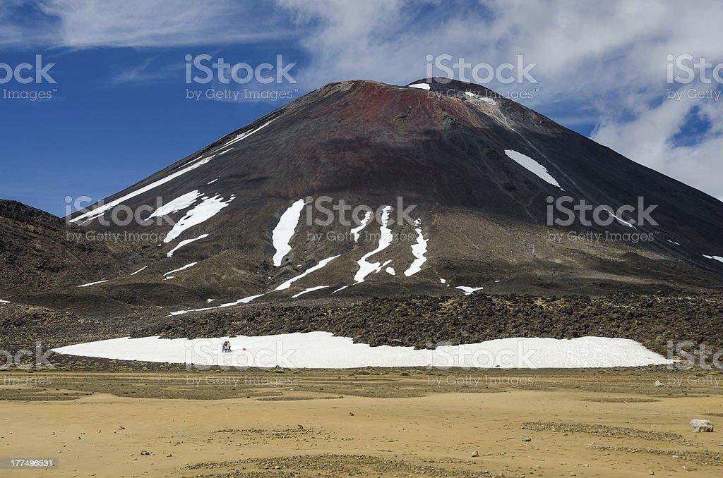 Mount Ngauruhoe, Tongariro National Park, New Zealand royalty-free stock photo