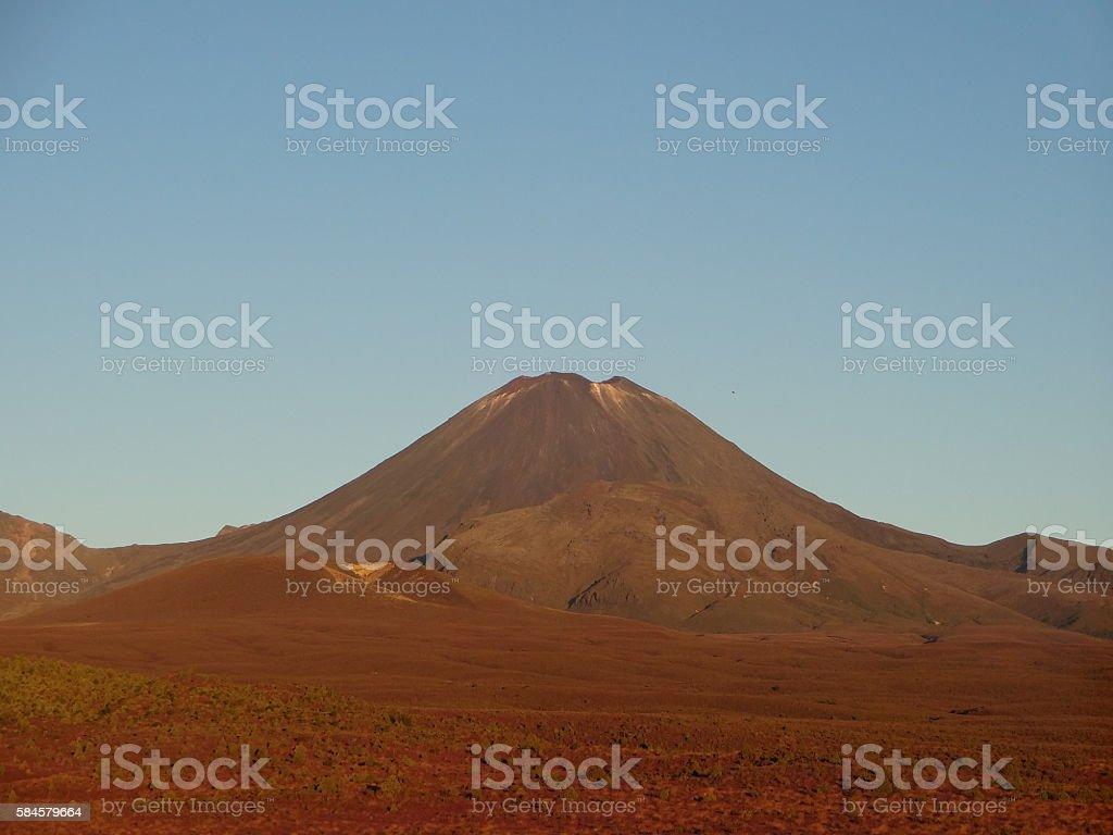 Mount Ngauruhoe Vulkan New Zealand stock photo