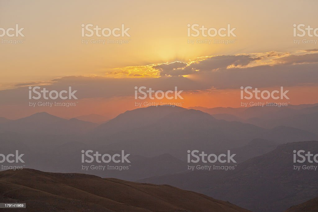 mount of nemrut summit at kahta adiyaman turkey stock photo