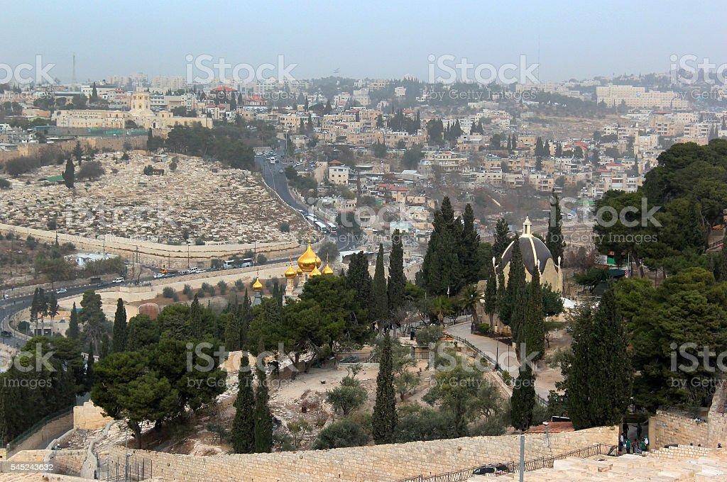 Mount of Olives in Jerusalem, Israel stock photo