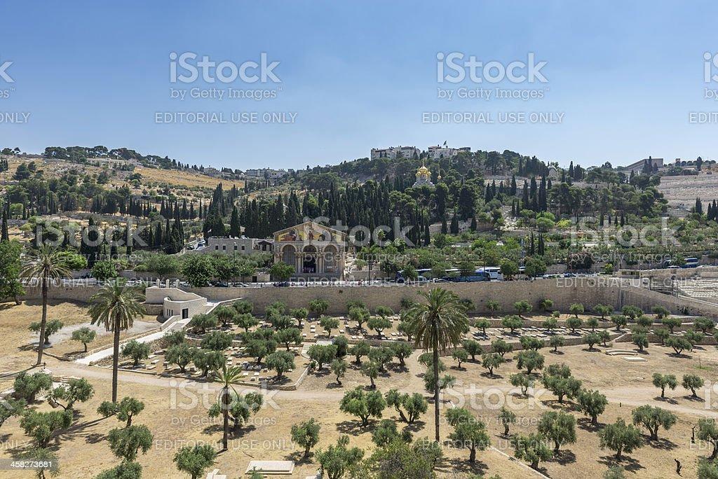 Mount Of Olives, Jerusalem, Israel stock photo