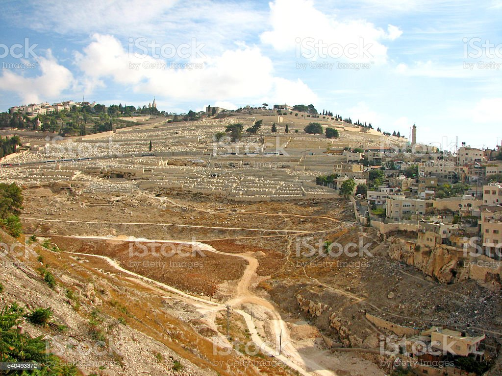 Mount of Olives, Jerusalem stock photo