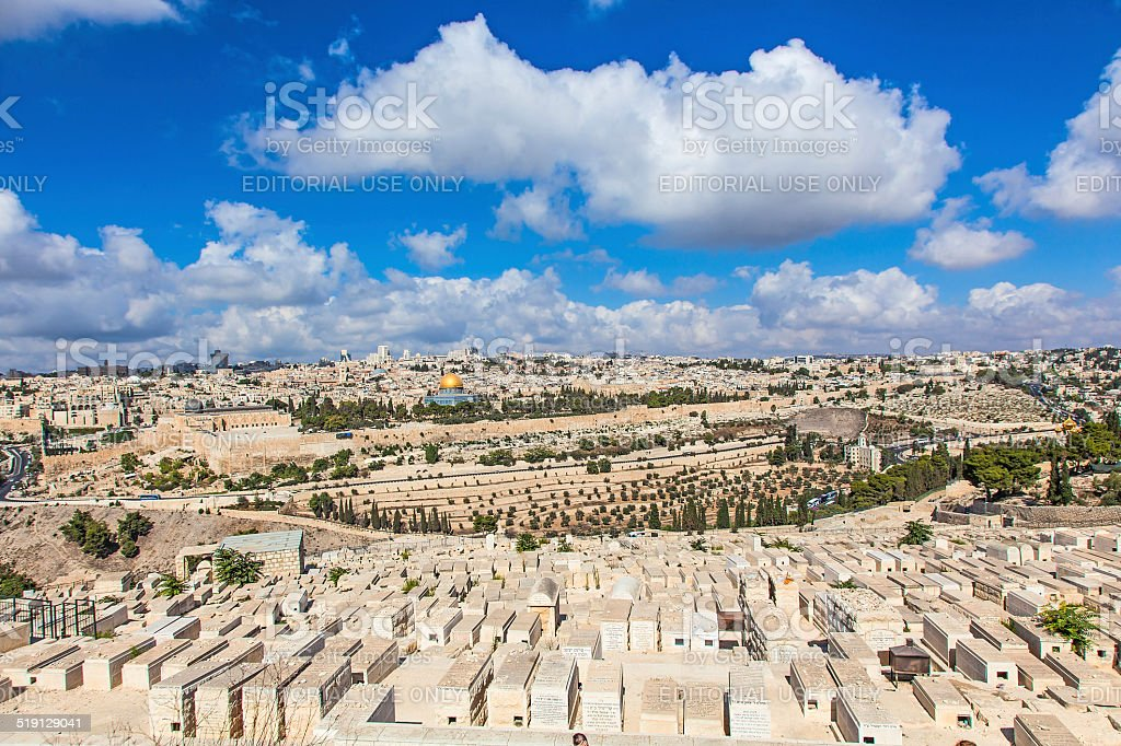 Mount of Olives stock photo