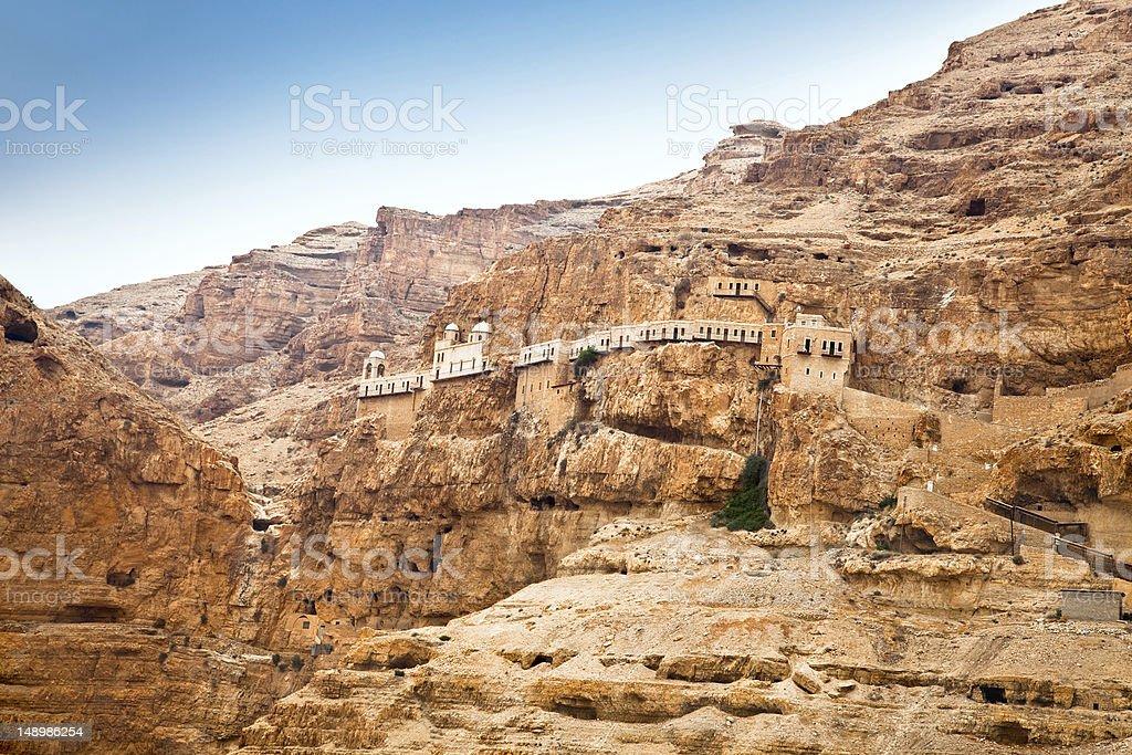 Mount of Temptation,  Jericho, West Bank,  Israel stock photo