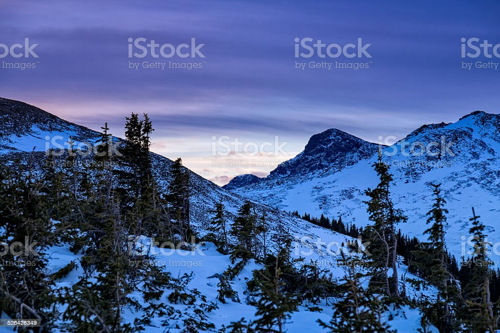 Mount of the Holy Cross in Winter stock photo