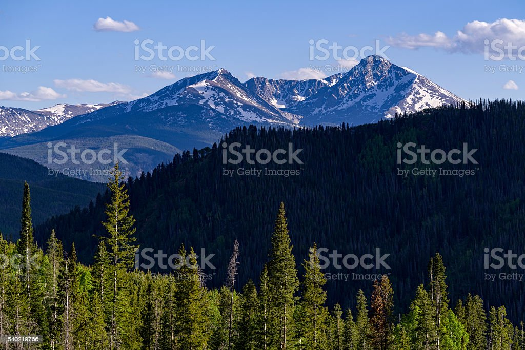 Mount of the Holy Cross Scenic Mountain View stock photo
