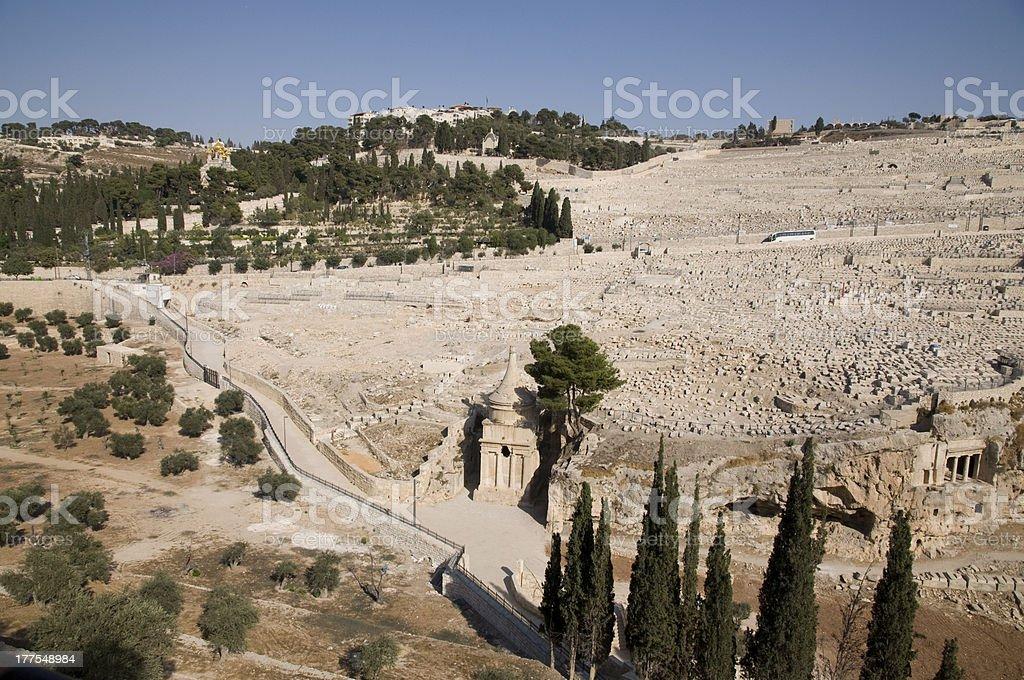 Mount Olive, Jerusalem stock photo