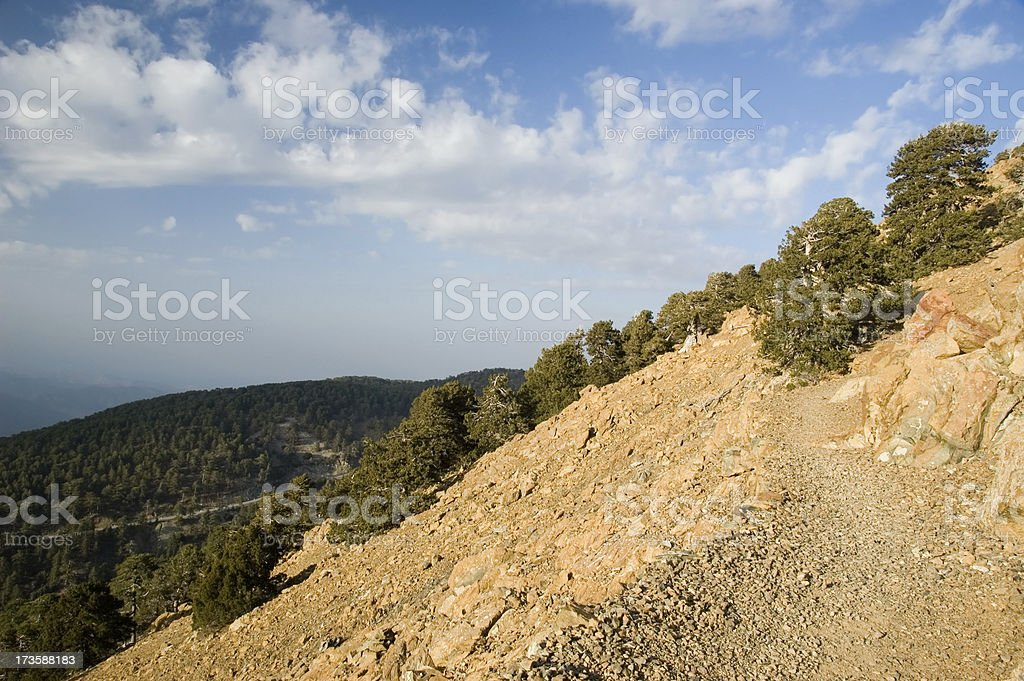 Mount Olympos - footpath stock photo