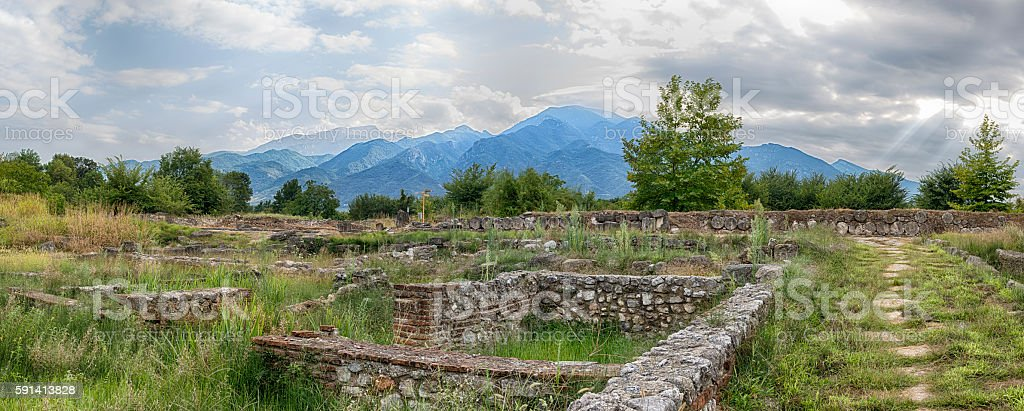 Mount Olympus and Dion, Greece. royalty-free stock photo