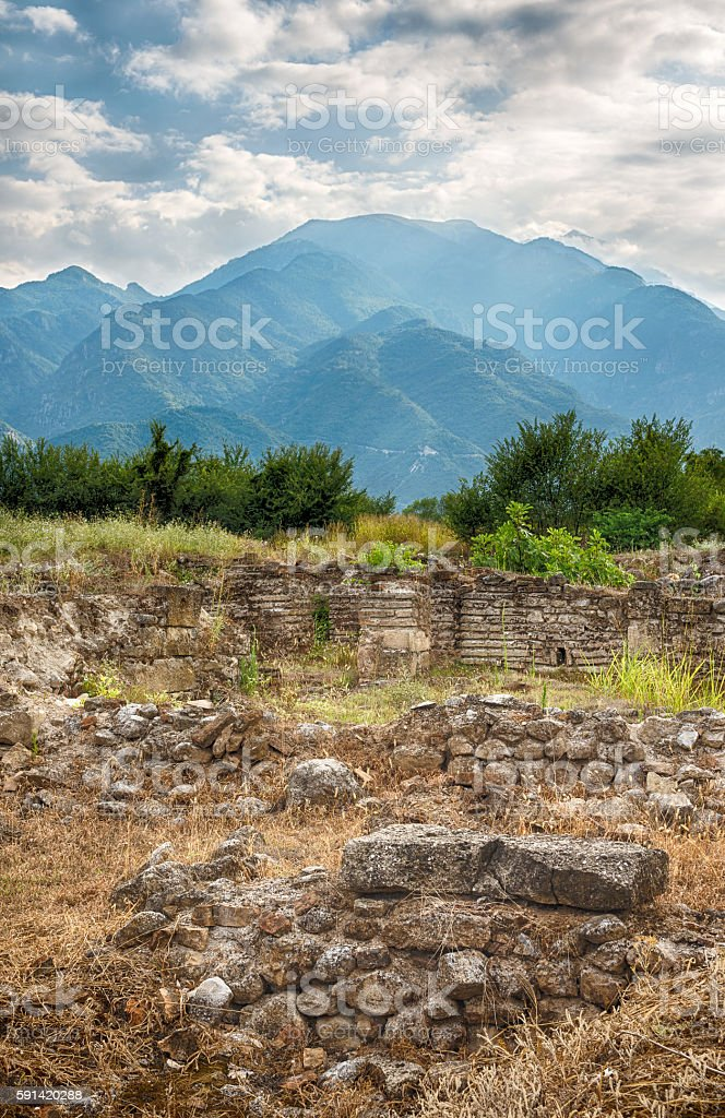 Mount Olympus and Dion, Greece royalty-free stock photo
