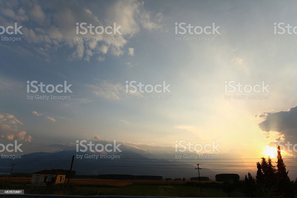 Mount Olympus stock photo