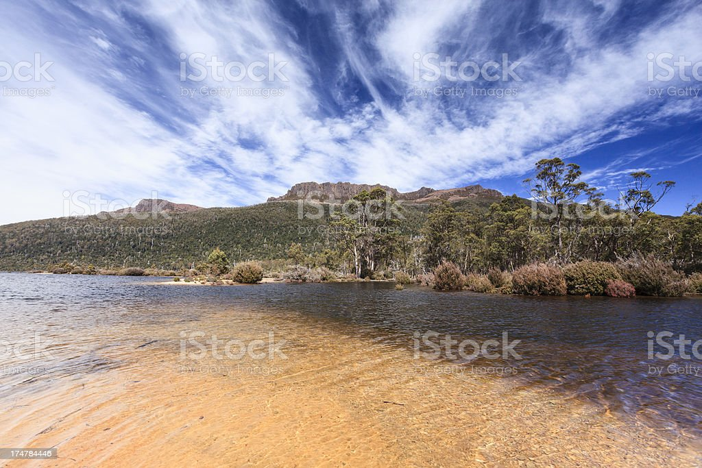 Mount Olympus - Tasmania stock photo