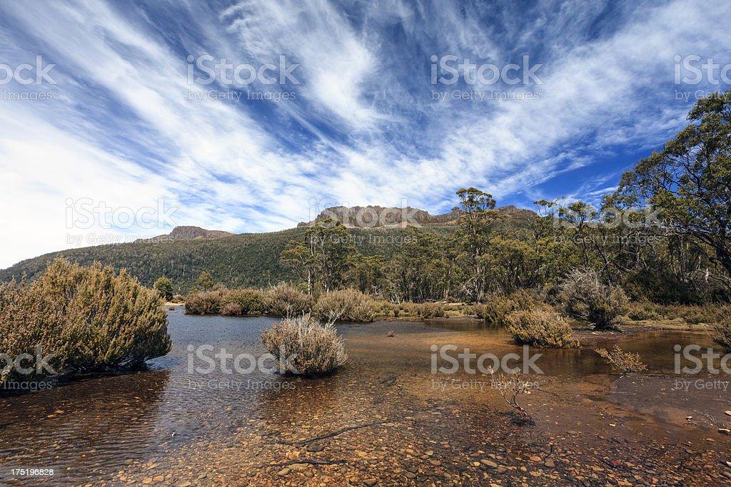 Mount Olympus - Tasmania stock photo