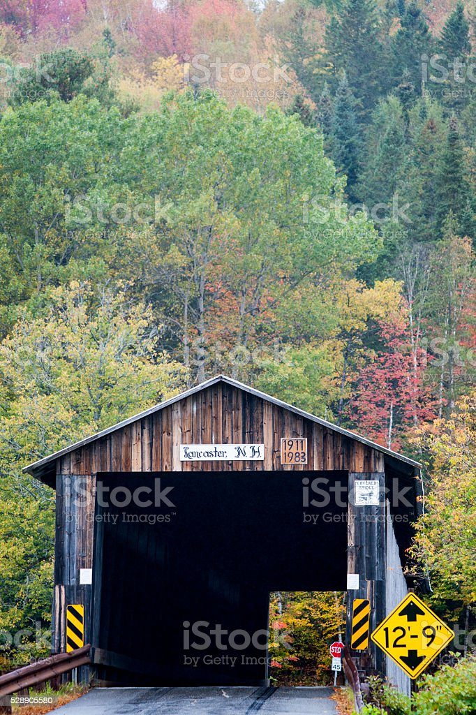 Mount Orne Bridge on rainy day stock photo