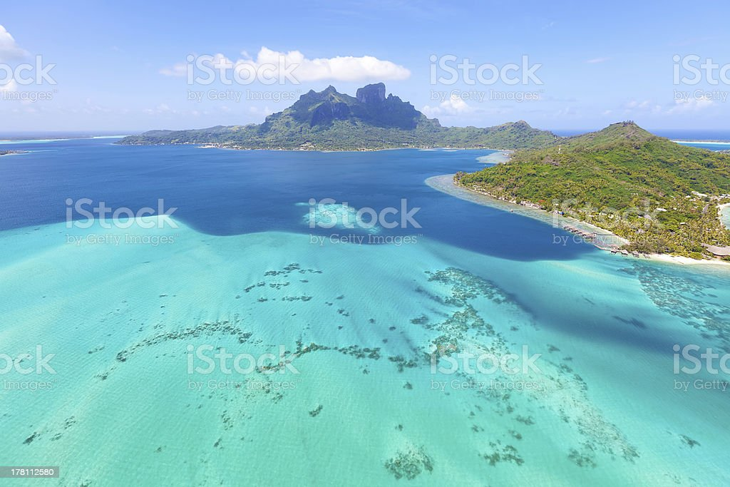 mount otemanu at bora stock photo
