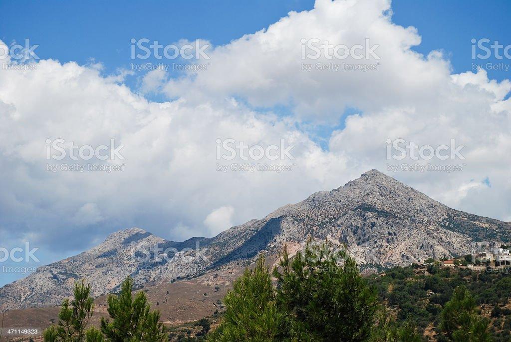 Mount Pelineon stock photo
