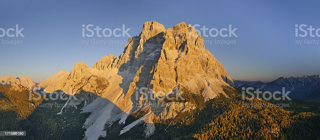 Mount Pelmo at Sunset (Dolomites - Italy) royalty-free stock photo