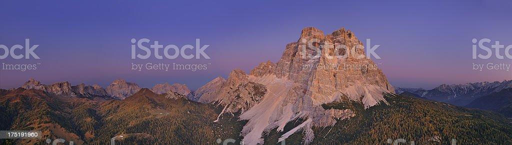 Mount Pelmo at Twilight (Dolomites - Italy) stock photo