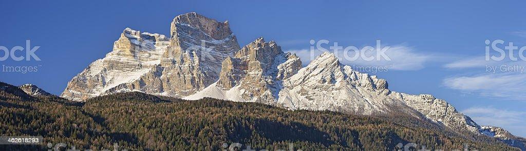 Monte Pelmo Panorama stock photo