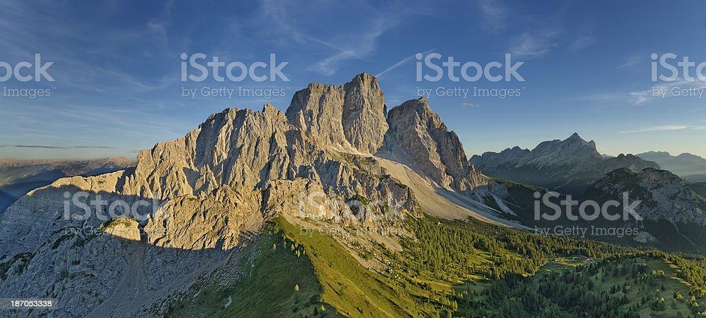 Mount Pelmo (Dolomites) stock photo