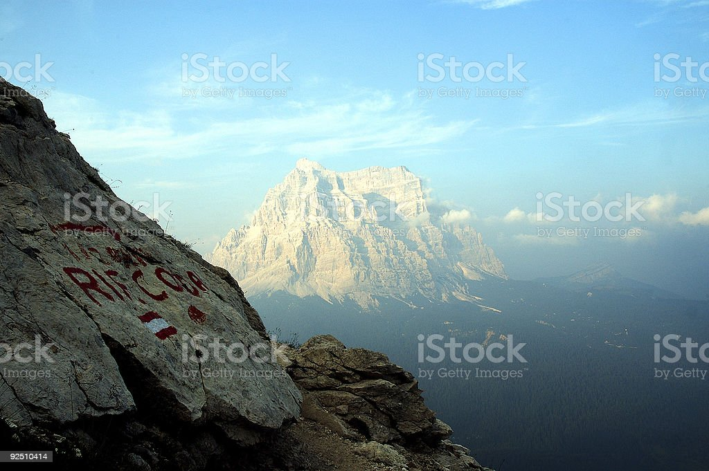 Mount Pelmo seen from Civetta, Italian dolomites stock photo