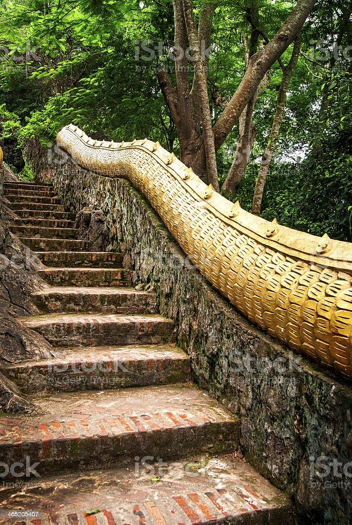 Mount Phousi Stairs stock photo