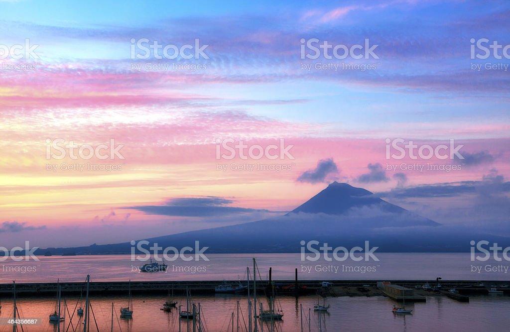 Mount Pico Sunrise stock photo