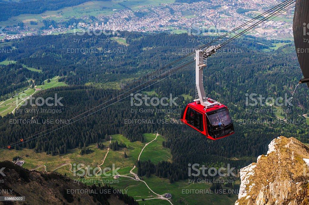 Mount Pilatus Tramway stock photo