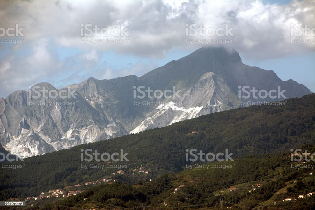 Mount Pizzo D'Uccello, Alpi Apuane stock photo