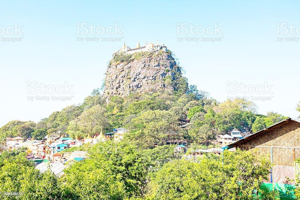 Mount Popa, at Bagan, Myanmar stock photo