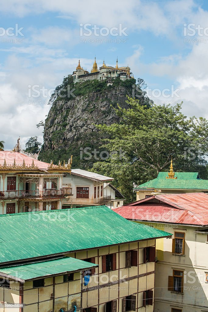 Mount Popa of Bagan, Myanmar. stock photo