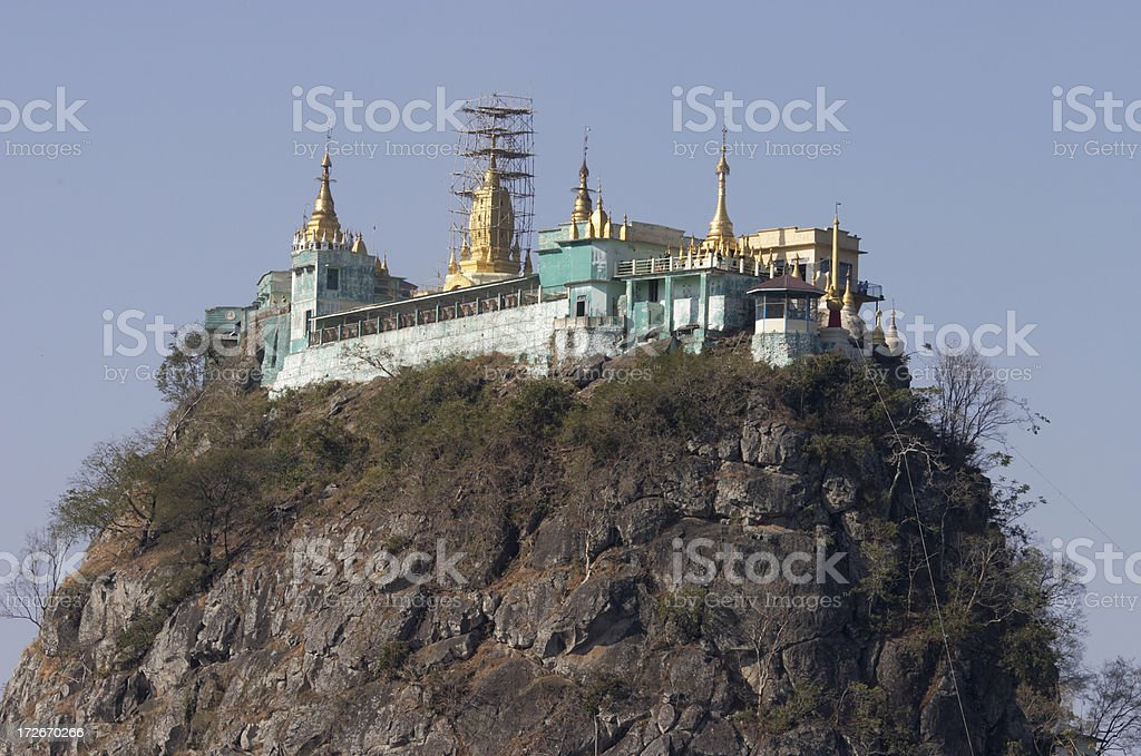 Mount Popa royalty-free stock photo