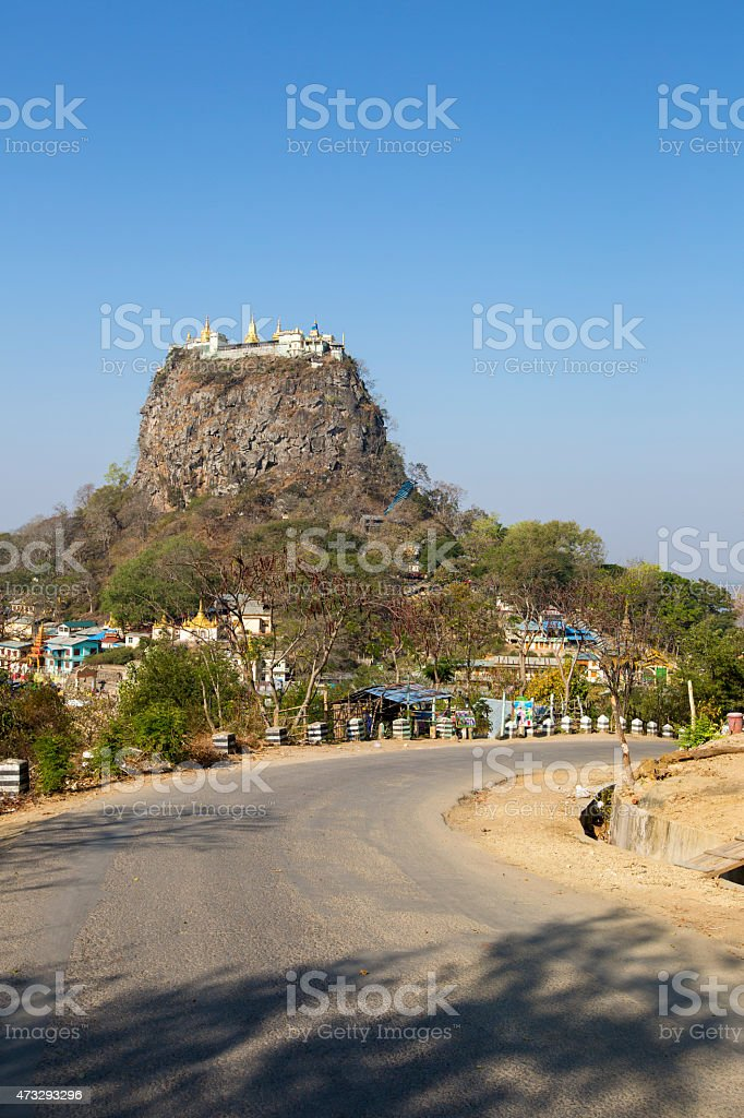 Mount Popa. stock photo