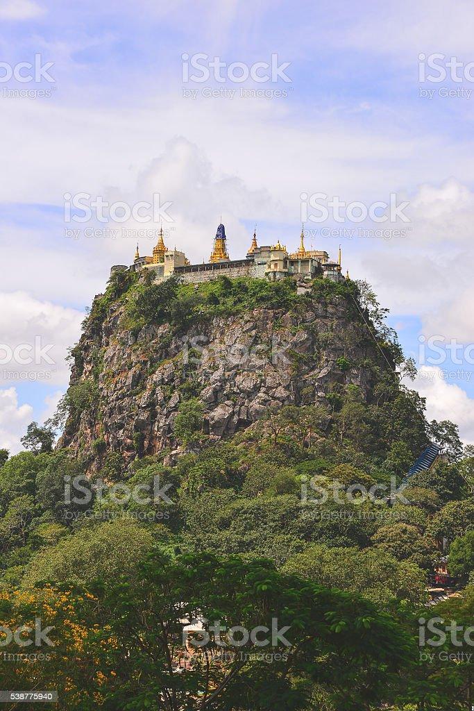 Mount Popa stock photo
