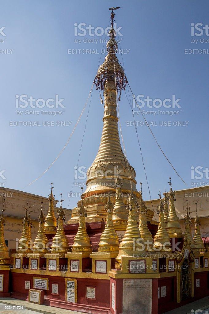 Mount Popa Shrine - Myanmar stock photo