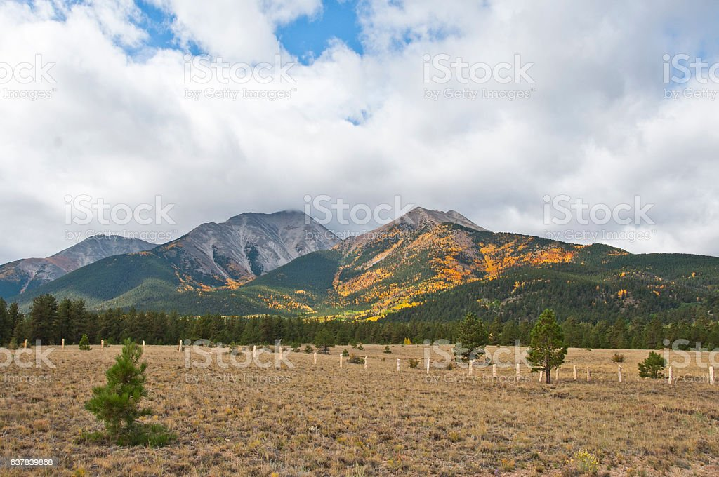 Mount Princeton Autumn Colors stock photo