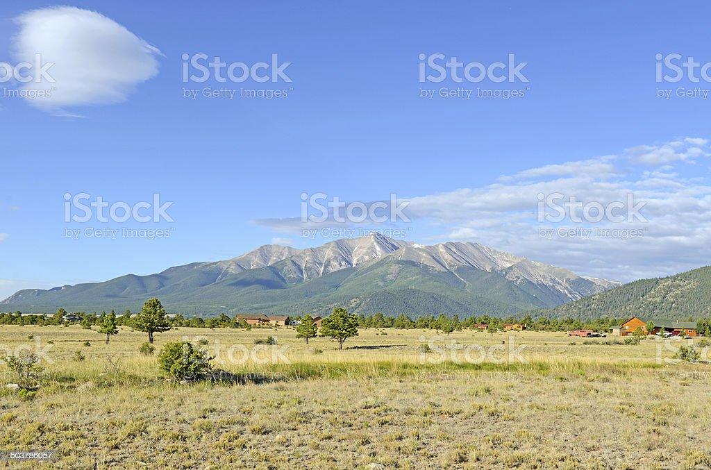 Mount Princeton, Colorado 14er, Rocky Mountains, USA stock photo