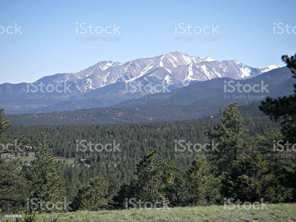 Mount Princeton, Colorado stock photo