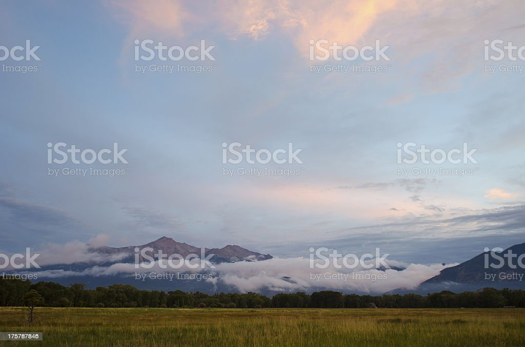 Mount Princeton Emerges From Rain Clouds stock photo