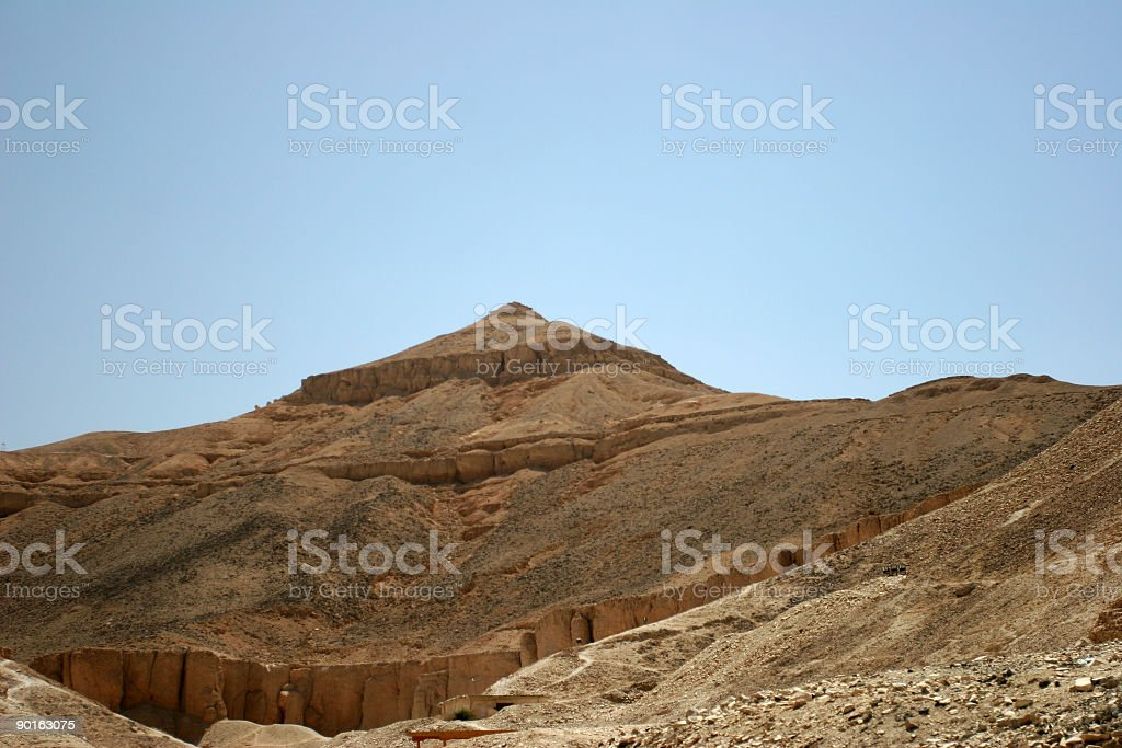Mount Pyramid in Valley of the Kings stock photo