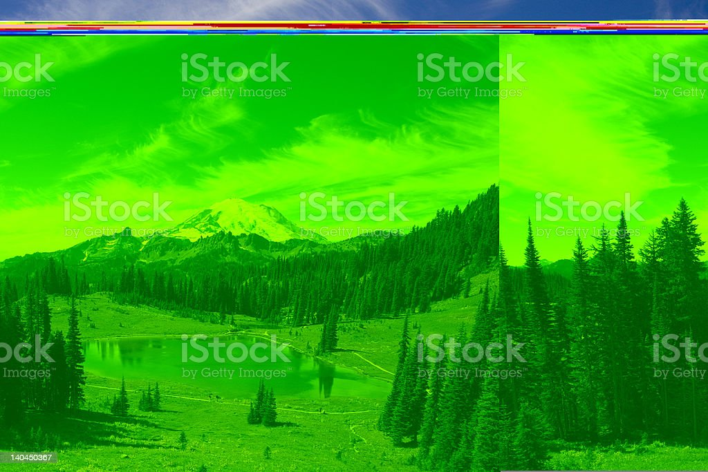 Mount Rainier 4392m royalty-free stock photo