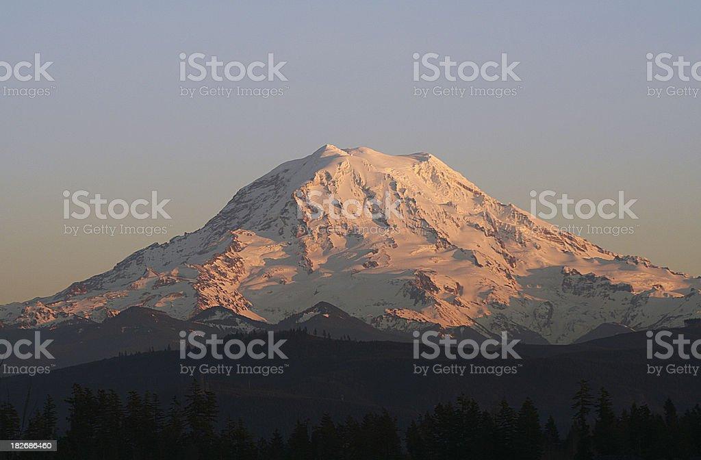 Mount Rainier at Sunset royalty-free stock photo