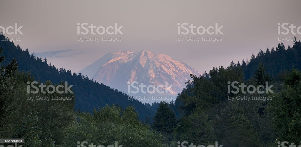 Mount Rainier from Issaquah Valley royalty-free stock photo